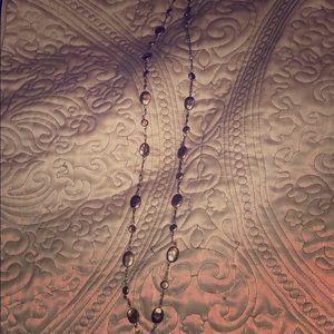 Lia Sophia Gold Long Necklace